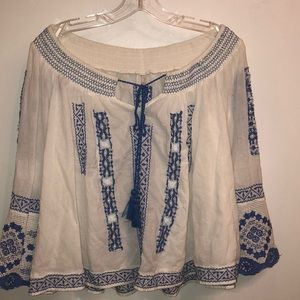 Free People off the shoulder peasant top